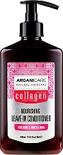 Profumi e cosmetici Balsamo indelebile per capelli ricci - Arganicare Collagen Nourishing Leave-In Conditioner
