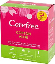 Profumi e cosmetici Assorbenti igienici quotidiani con estratto di aloe, 56 pz. - Carefree Cotton Aloe