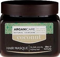 Profumi e cosmetici Maschera per ripristinare la struttura dei capelli con olio di cocco - Arganicare Coconut Hair Masque For Dull, Very Dry & Frizzy Hair