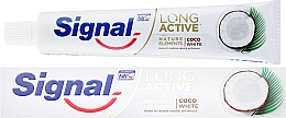 Dentifricio - Signal Long Active Nature Elements Coco White — foto N1