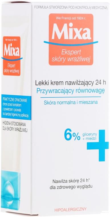 Crema idratante per la pelle normale e mista - Mixa Sensitive Skin Expert 24 HR Moisturising Cream