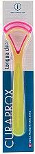 Profumi e cosmetici Set raschietti lingua CTC 203, giallo+rosa - Curaprox Tongue Cleaner