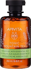 Profumi e cosmetici Gel doccia al tè di montagna con olii essenziali - Apivita Tonic Mountain Tea Shower Gel with Essential Oils