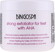 Profumi e cosmetici Esfoliante potente per piedi - BingoSpa Strong Exfoliant for Feet with AHA