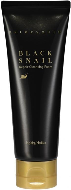 Schiuma rigenerante per viso - Holika Holika Prime Youth Black Snail Cleansing Foam