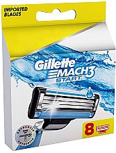 Profumi e cosmetici Lamette di ricambio, 8 pz - Gillette Mach3 Start