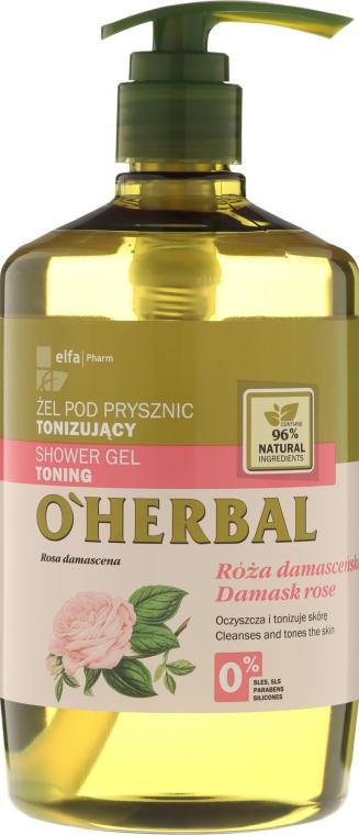 Gel doccia tonificante con estratto di rosa damascena - O'Herbal Toning Shower Gel