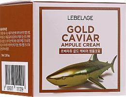 Profumi e cosmetici Crema ringiovanente con oro e estratto di caviale - Lebelage Ampoule Cream Gold Caviar