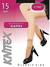 "Profumi e cosmetici Calze da donna ""Elastan"" 15 Den, 2 paia, Nero - Knittex"