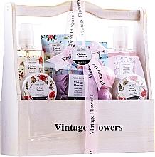 Profumi e cosmetici Set - IDC Institute Vintage Flowers (sh/g/240ml+b/lot/50ml+b/scrub/50ml+salt/100g+soap/4x3g+bath/foam/240ml+h/lot/100ml+bomb/2x40g)