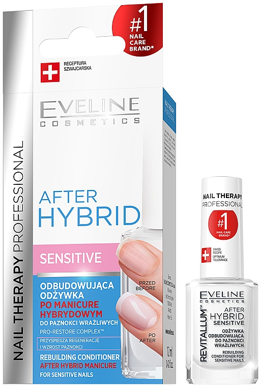 Balsamo riparatore per unghie - Eveline Cosmetics After Hybrid Rebuilding Conditioner