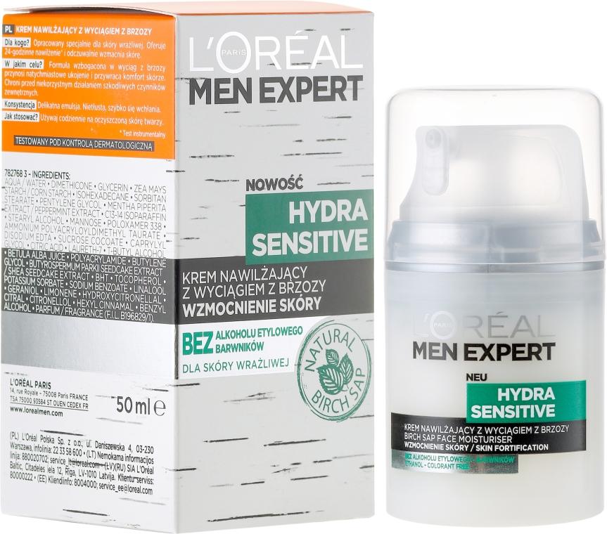 Crema viso idratante con estratto di betulla per pelli sensibili, uomo 25+ - L'Oréal Paris Men Expert Hydra Sensitive 25+ — foto N4