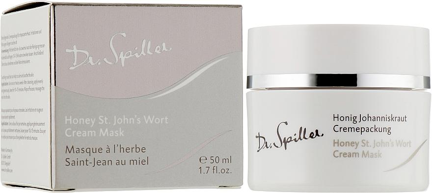 Maschera-crema idratante e lenitiva con olio di iperico - Dr. Spiller Honey St.John's Wort Cream Mask — foto N2