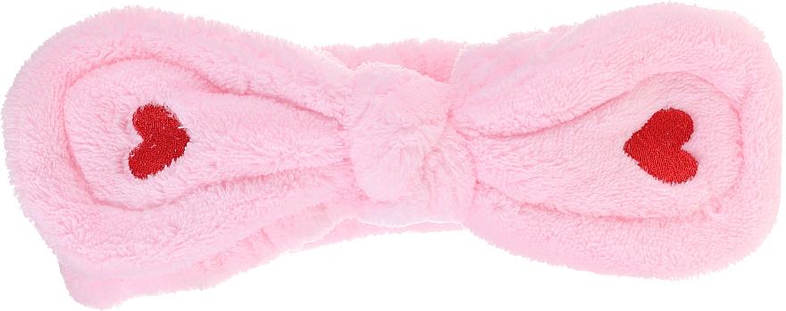 Fascia per capelli cosmetica, rosa - Lash Brow Cosmetic SPA Band