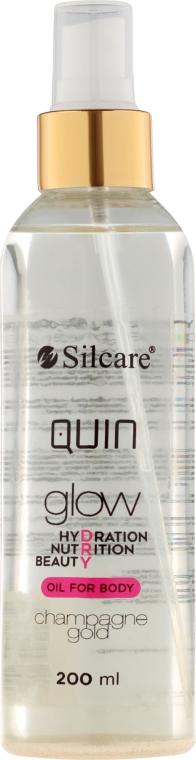 Olio corpo - Silcare Quin Glow Dry Oil for Body Champagne Gold