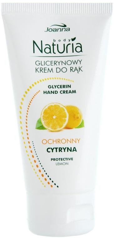 Crema mani protettiva alla glicerina, con estratto di limone - Joanna Naturia Glycerin Protective Lemon Hand Cream