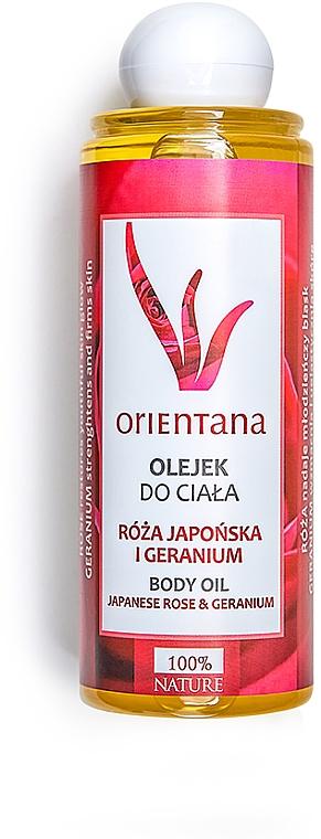 "Olio corpo ""Rosa giapponese e geranio"" - Orientana Japanese Rose And Geranium Body Oil"