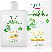 Profumi e cosmetici Gel detergente intimo idratante all'aloe - Equilibra Aloe Moisturizing Cleanser For Personal Hygiene