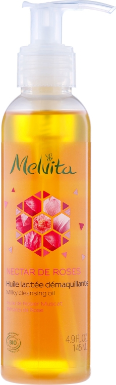Olio detergente struccante - Melvita Nectar De Rose Milky Cleansing Oil — foto N1
