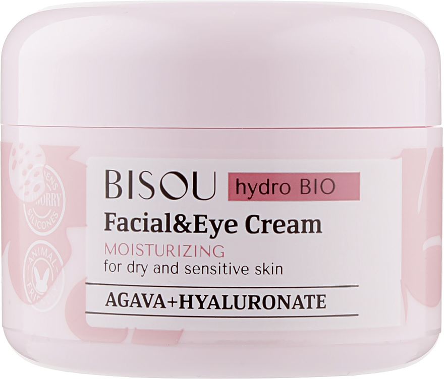 Crema idratante viso e contorno occhi - Bisou Hydro Bio Facial Eye Cream