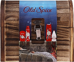 Profumi e cosmetici Set - Old Spice Deep Sea Wooden Chest (deo/spray/150ml + deo/50g + sh/gel/250ml + ash/lot/100ml)