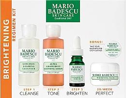 Profumi e cosmetici Set - Mario Badescu The Brightening Kit (foam/117ml+lot/236ml+ser/29ml+mask/56g+complex/3g)