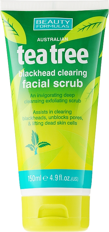 "Scrub viso anti-acne ""Albero del tè"" - Beauty Formulas Tea Tree Facial Scrub"