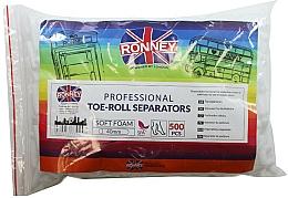 Profumi e cosmetici Rulli separatori per pedicure, 500 pz - Ronney Professional Toe-Roll Sparators