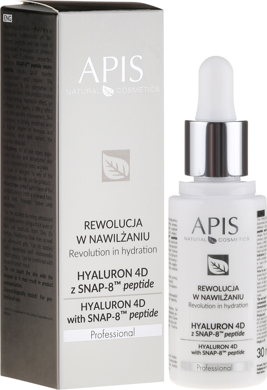 Siero viso - APIS Professional Hyaluron 4D + Snap-8 Peptide