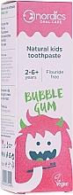 """Profumi e cosmetici Dentifricio per bambini """"Bubble gum"""" - Nordics Natural Kids Bubble Gum Toothpaste"""
