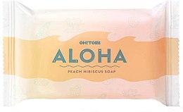 Profumi e cosmetici Sapone naturale - Oh!Tomi Aloha Peach Hibiscus Soap