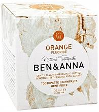 Profumi e cosmetici Dentifricio naturale - Ben & Anna Orange Fluoride Toothpaste
