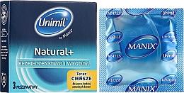 Profumi e cosmetici Preservativi, 3 pezzi - Unimil Natural