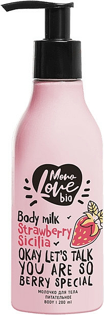 """Latte corpo nutriente """"Fragola"""" - MonoLove Bio Strawberry Sicilia Body Milk"""