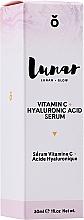 Profumi e cosmetici Siero viso all'acido ialuronico - Lunar Glow Vitamin C Hyaluronic Acid Serum