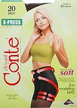 """Profumi e cosmetici Collant """"X-press"""" 20 Den, mocca - Conte"""