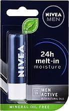 Profumi e cosmetici Balsamo labbra, per uomo - Nivea Men Active Care SPF 15