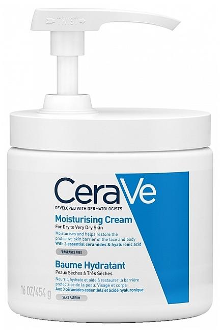 Crema viso e corpo idratante per pelli da secche a molto secche con dosatore - CeraVe Moisturising Cream