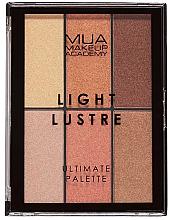 Profumi e cosmetici Palette trucco - MUA Light Lustre Ultimate Palette Bronze, Blush, Highlight