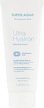 Profumi e cosmetici Crema detergente viso all'acido ialuronico - Missha Super Aqua Ultra Hyalron Cleansing Cream