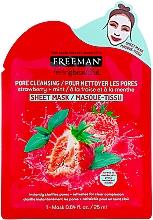 "Profumi e cosmetici Maschera purificante in tessuto ""Fragole e Menta"" - Freeman Feel Beautiful Pore Cleansing Sheet Mask"
