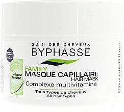 Profumi e cosmetici Maschera multivitaminica per tutti i tipi di capelli, con complesso multivitaminico - Byphasse Family Multivitamin Complexe Mask
