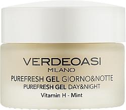 Profumi e cosmetici Gel viso detergente e idratante, giorno e notte - Verdeoasi Purefresh Gel Day&Night