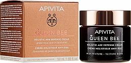 Profumi e cosmetici Crema dalla texture ricca per una protezione completa anti-invecchiamento - Apivita Queen Bee Holistic Age Defence Cream Rich Texture