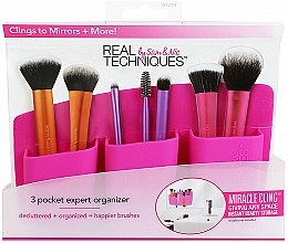 "Profumi e cosmetici Organizer per pennelli ""Pink"" - Real Techniques 3 Pocket Expert Organizer Pink"