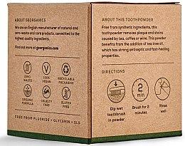 Polvere naturale sbiancante per i denti - Georganics Tea Tree Natural Toothpowder — foto N3
