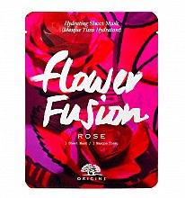 Profumi e cosmetici Maschera in tessuto idratante alla rosa - Origins Flower Fusion Rose Hydrating Sheet Mask