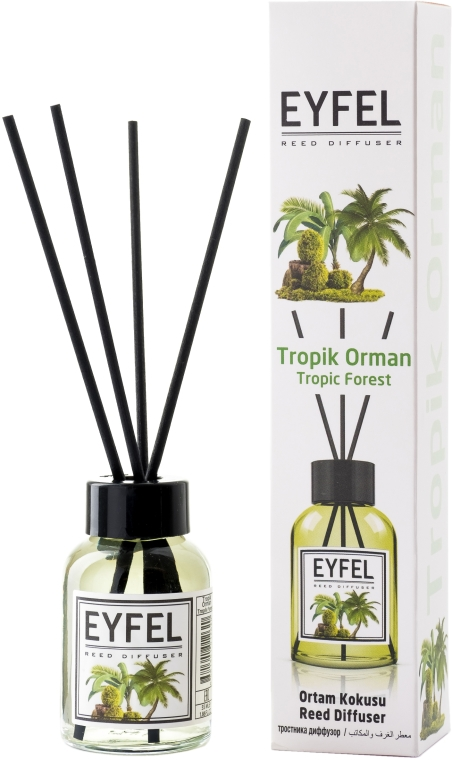 """Aromadiffusore """"Foresta pluviale"""" - Eyfel Perfume Reed Diffuser Tropic Forest"""