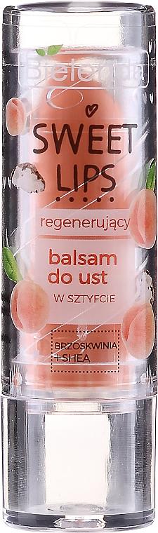 """Balsamo labbra rivitalizzante """"Pesca + burro di karité"""" - Bielenda Sweet Lips Regenerating Lip Balm"""