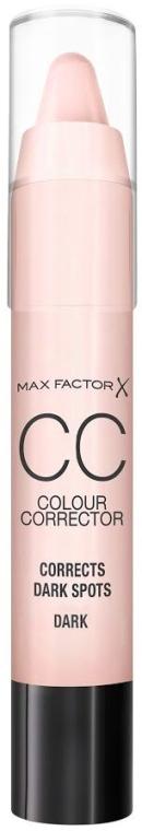 Correttore viso - Max Factor CC Colour Corrector Corrects Dark Spots Dark — foto N1
